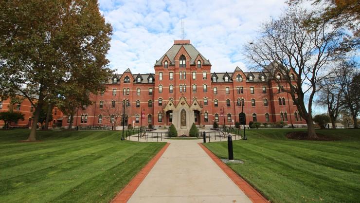 Campus walkway.