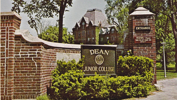 Entrance to Dean Junior College in 1970's.