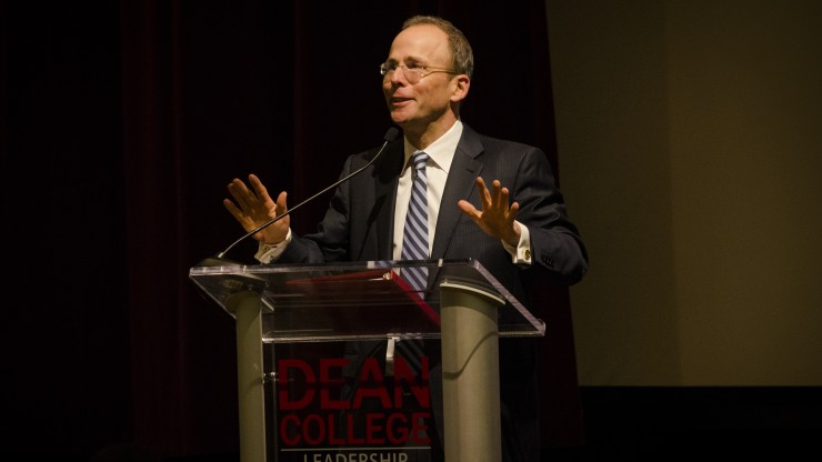 Jonathan Kraft, President, The Kraft Group, speaking to students at the Executive Lecture Series.