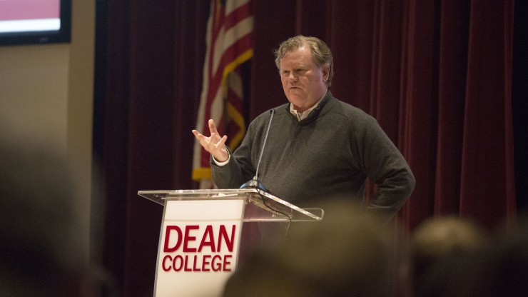 Michael Spillane, President of Categories and Product, Nike, speaking at the Executive Lecture Series for the Dean Leadership Institute spring event.
